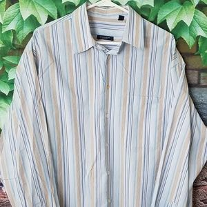 Striped Pocket Button Front Shirt